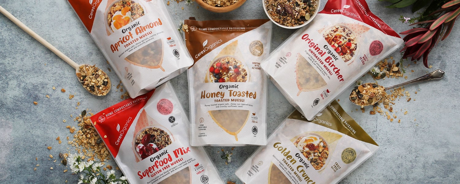 NEWLY LAUNCHED: Our Classic Muesli Range in NEW Home Compostable
